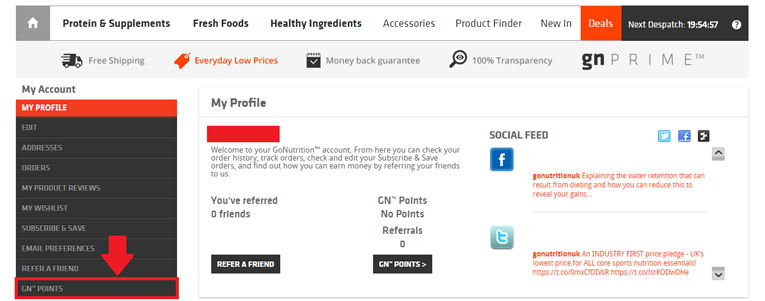 How To Check Your GN Points Balance While Trying To Use A Go Nutrition Discount Code