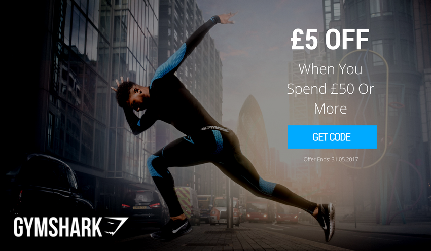 £5 Off When You Spend £50 or More - GYMSHARK