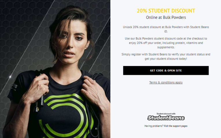 Bulk Powders Student Discount - Student Beans 20% Off