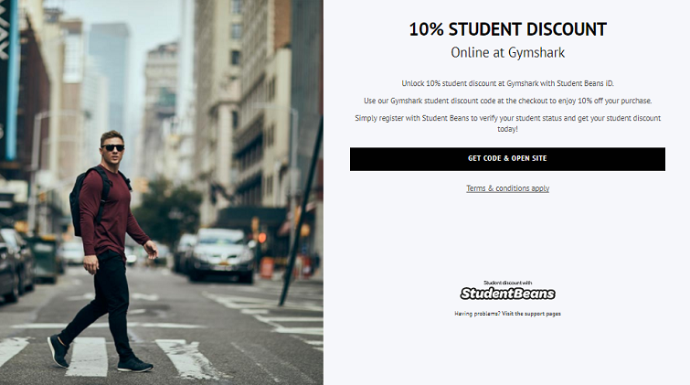 Gymshark student discount code - Student Beans Gymshark 10% off